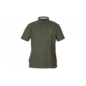 Fox International Tričko Collection Green & Silver Polo Shirt vel. M