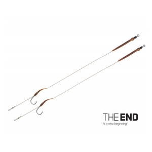 Návazec THE END Boilie rig / 2ks - 20cm/25lbs/#2