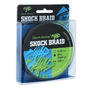 Splétaná šňůra Shock Braid 100m 0,29mm 22,7kg